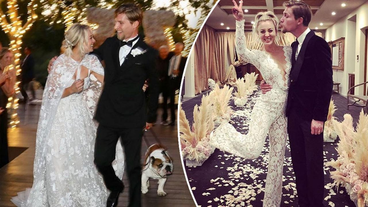 Kaley Cuoco Just Got Married And Wore The Best Wedding Jumpsuit Ever